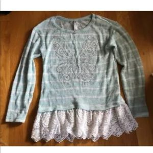 Knit Works Girls Kids Butterfly Shirt - Size S